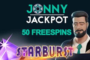 50 Free Spins on starburst With No Deposit at Jonny Jackpot