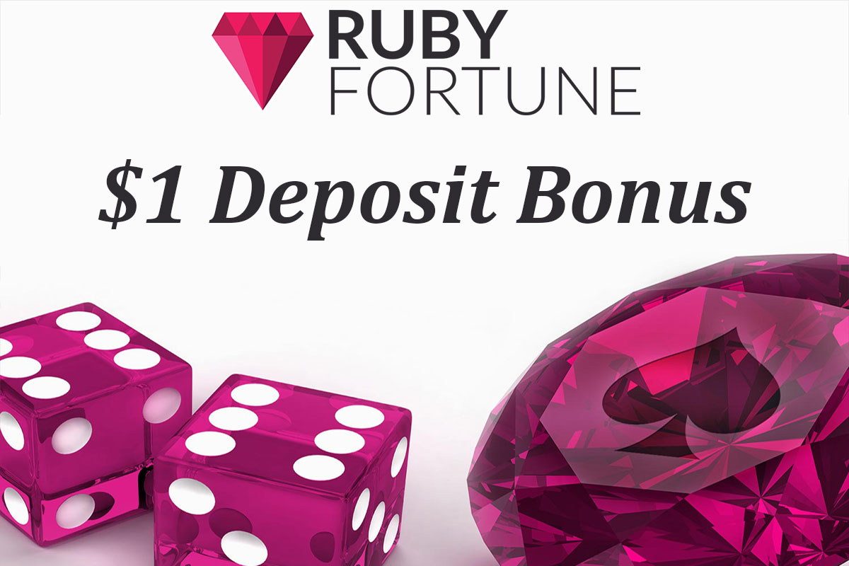 $1 deposit bonus at ruby fortune online casino